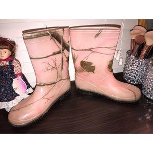 🖤girls camo rain boots